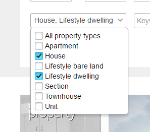 Select multiple check boxes in a drop down selector