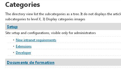 Directory view - only have two level of subcategories